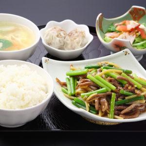 牛肉とニンニクの芽炒めセット