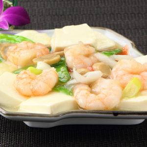 海老と豆腐の煮込み