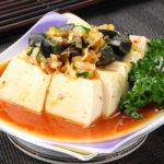 ピータンかけ豆腐