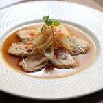 蒸し鶏肉の冷菜